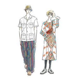 フェスコーデ ROCK IN JAPAN FESTIVAL スイスのスニーカーブランドOnとのタイアップ記事 音楽 イラスト 女性 ファッション 広告 web  イラストレーター イラストレーション おしゃれ adobefresco anthurium illustration fashionillustration woman illustrator イラストレーターreism・i(リズム)