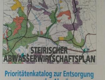 Mitarbeit beim Steir. Abwasserwirtschaftsplan 2019