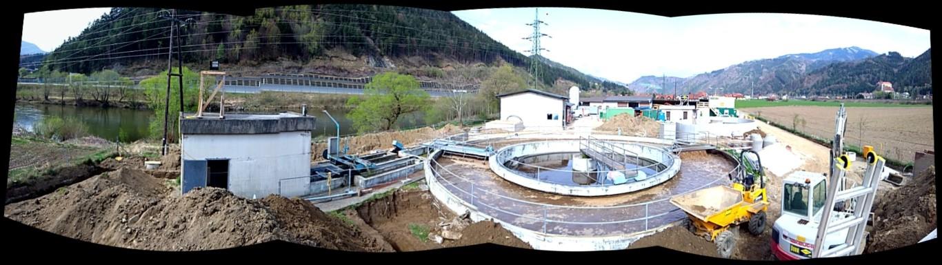 Wasserrechtliche Bauaufsicht für Kläranlage