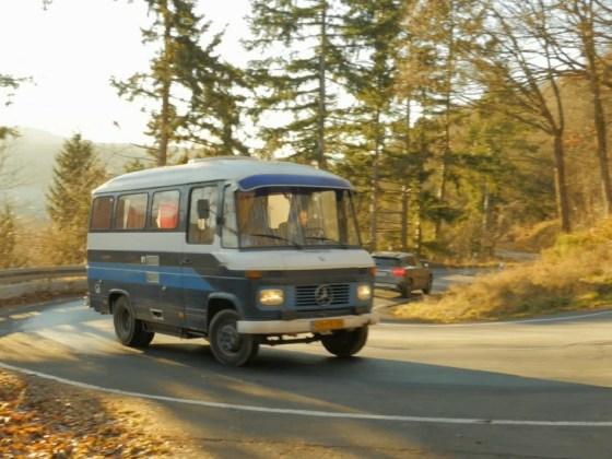 road trip duitsland oud mercedes busje
