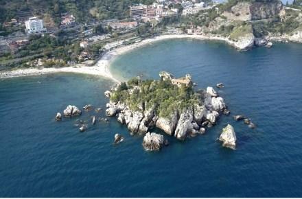 taormina badplaats sicilië isola bella