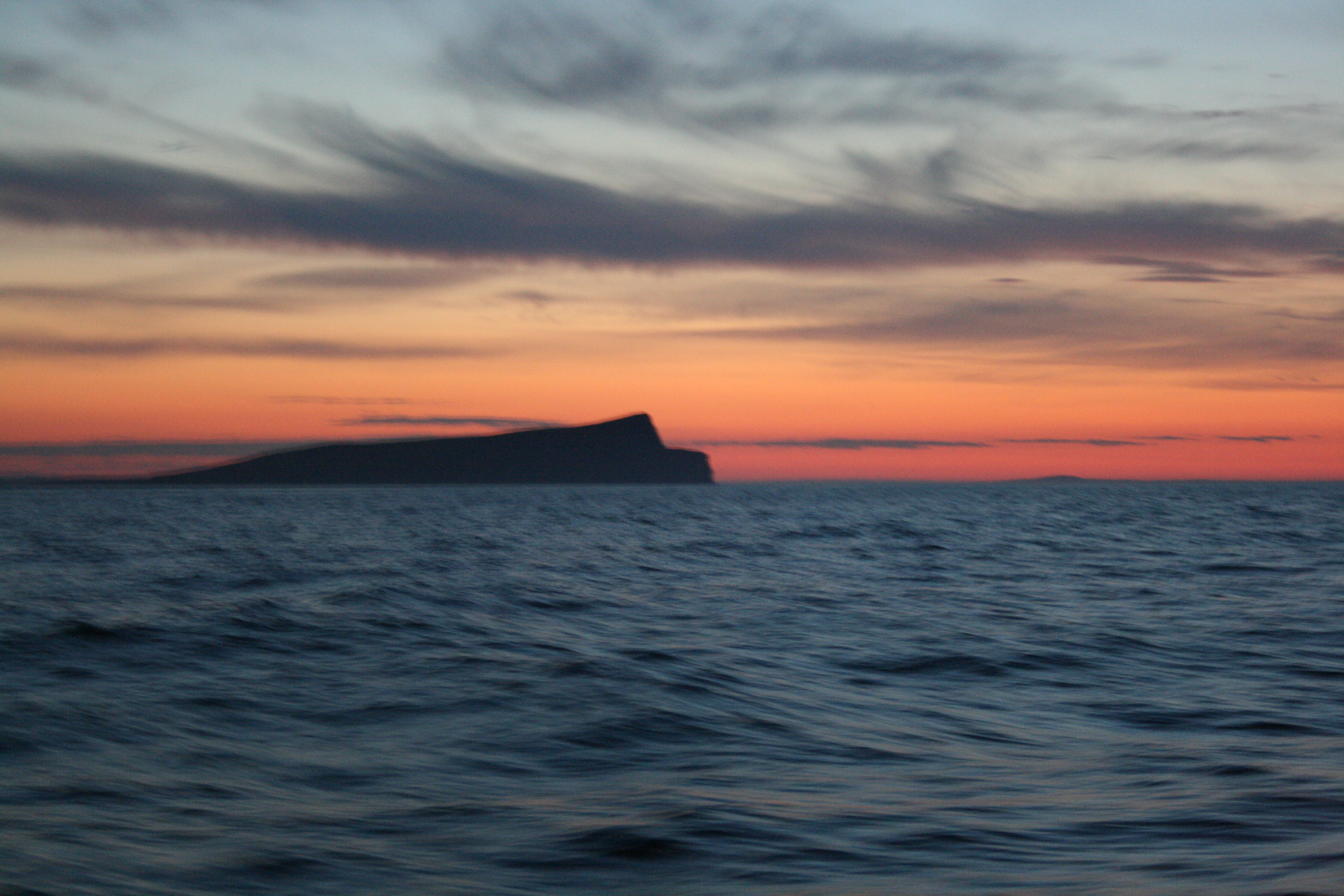 First glimpse of the Noss and Shetland