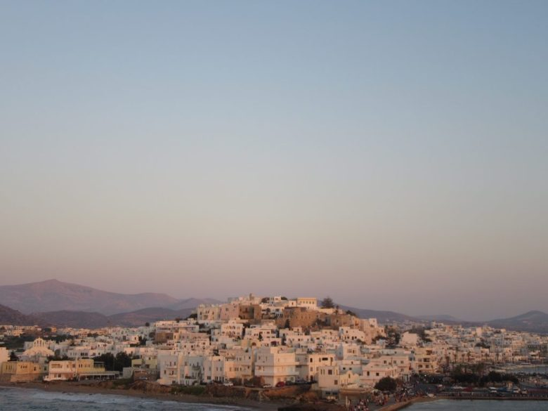 Naxos Chora view sunset Griekenland