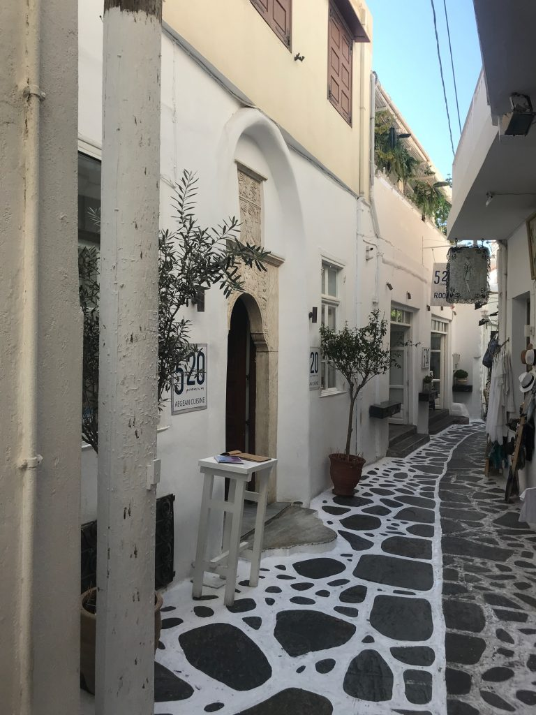 Naxos Griekenland Chora streets