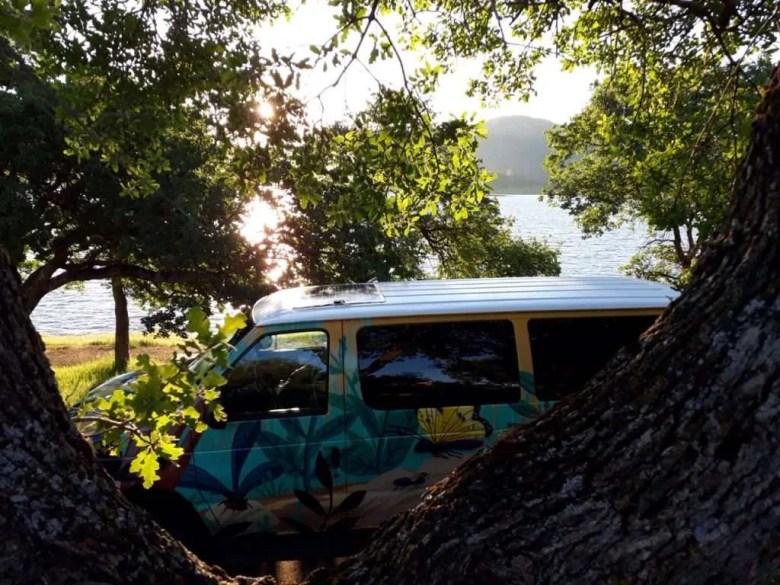 Campervan nature view Californië reisroute