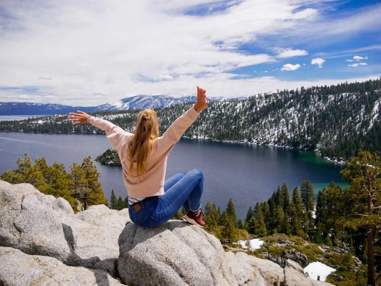 Emerald Bay Lake Tahoe reisroute Californië