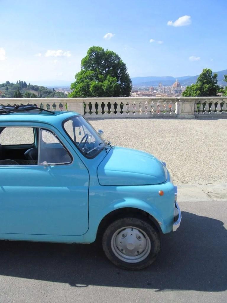 Reisroute Italië Fiat 500 roadtrip Toscane