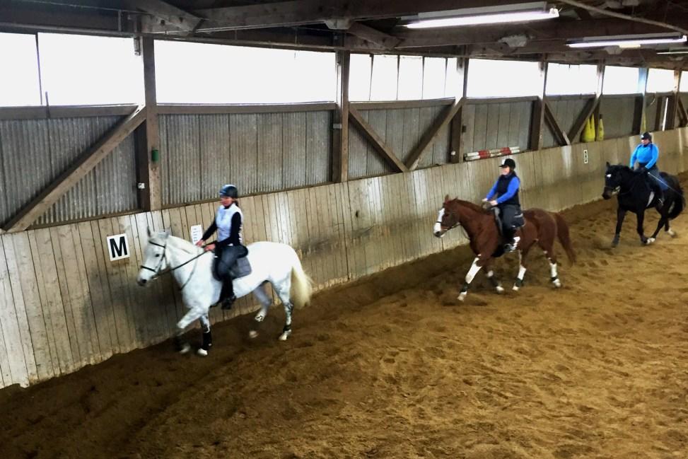 Christine beim Training aufs Reiterbrevet