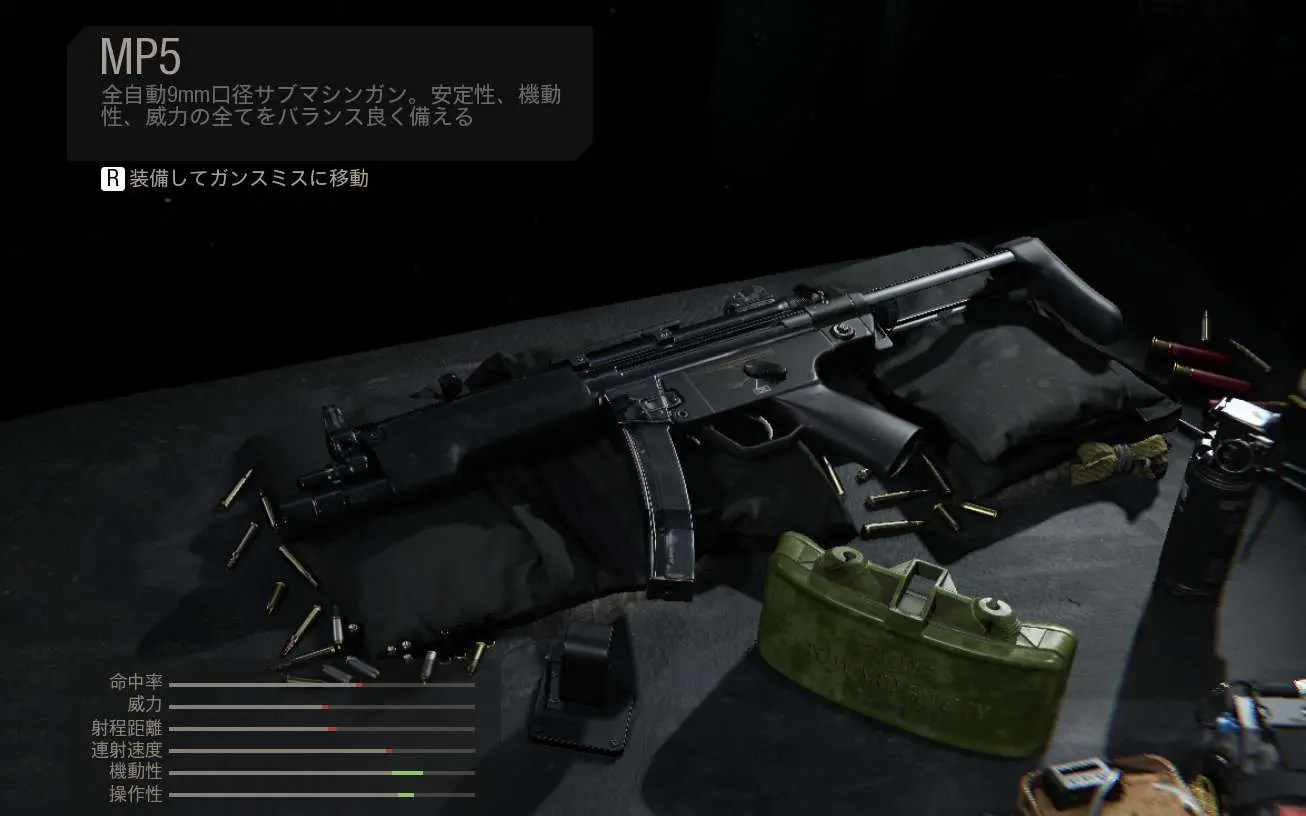 【CoD:MW】10mm弾が人気 MP5の性能