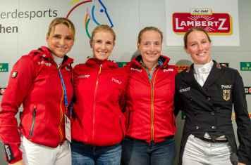 Dorothee Schneider,Jessica von Bredow-Werndl, Isabell Werth, Helen Langehanenberg