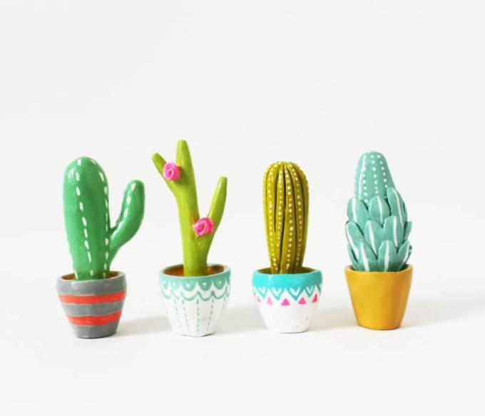 kerajinan clay tepung kaktus