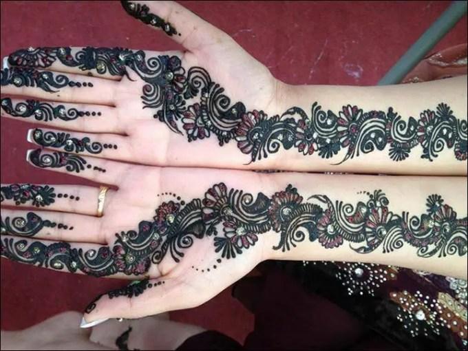 motif henna sederhana