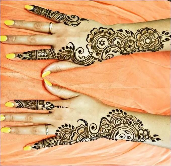 henna tangan mudah