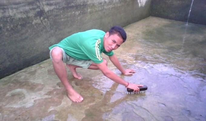 pengeringan kolam ikan gurame agar cepat besar
