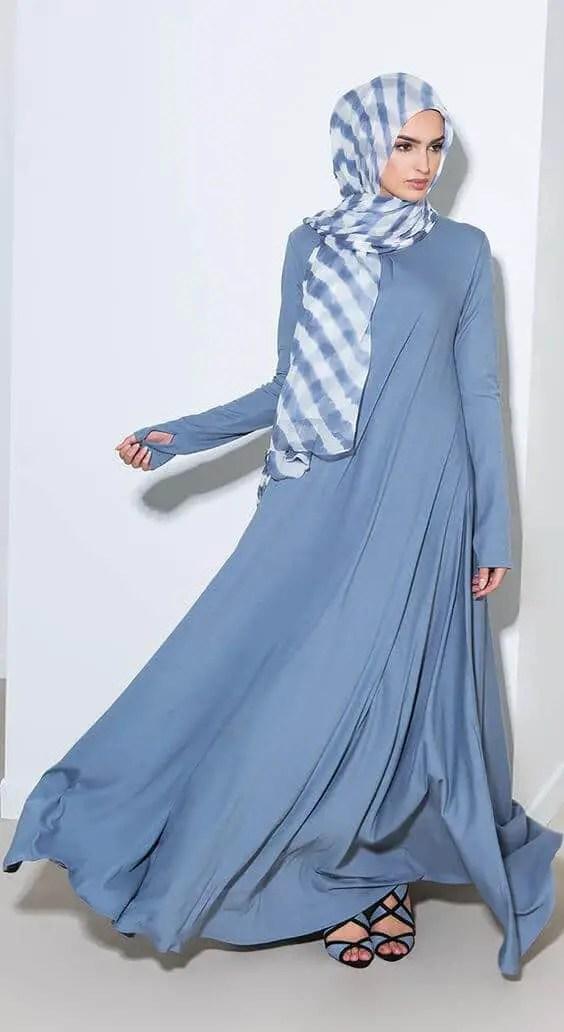 abaya sky blue