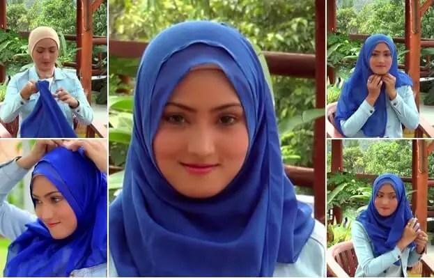 model hijab paris simple