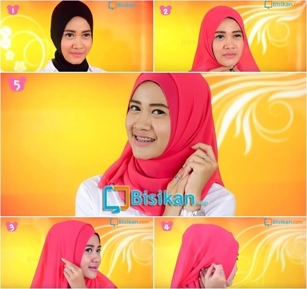 model hijab pashmina simple untuk ke kampus