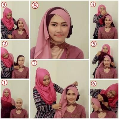 model hijab simpel untuk kebaya