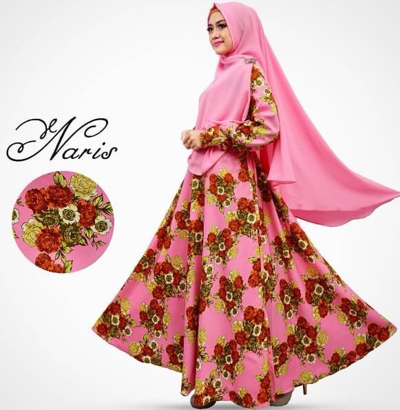 baju gamis motif bunga