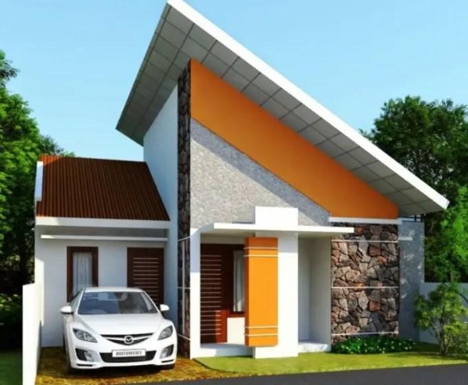 rumah minimalis atap unik