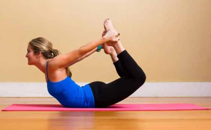 gerakan yoga bow pose