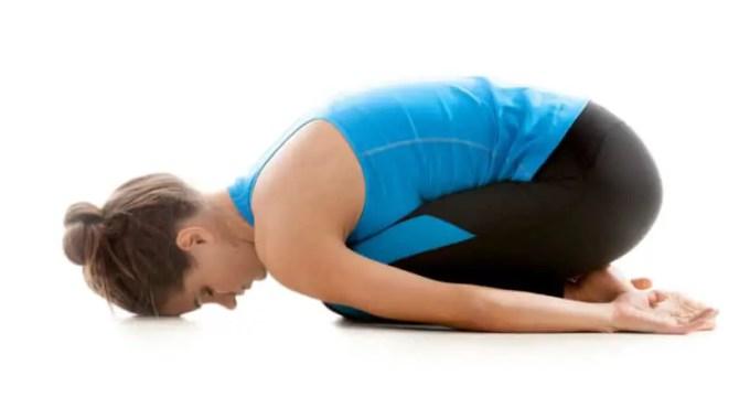 gerakan yoga child pose