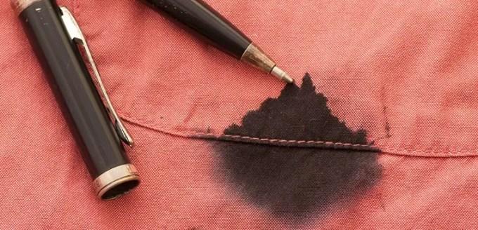 cara menghilangkan noda tinta di baju berwarna