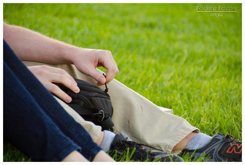 Engagement ring hidden in camera bag