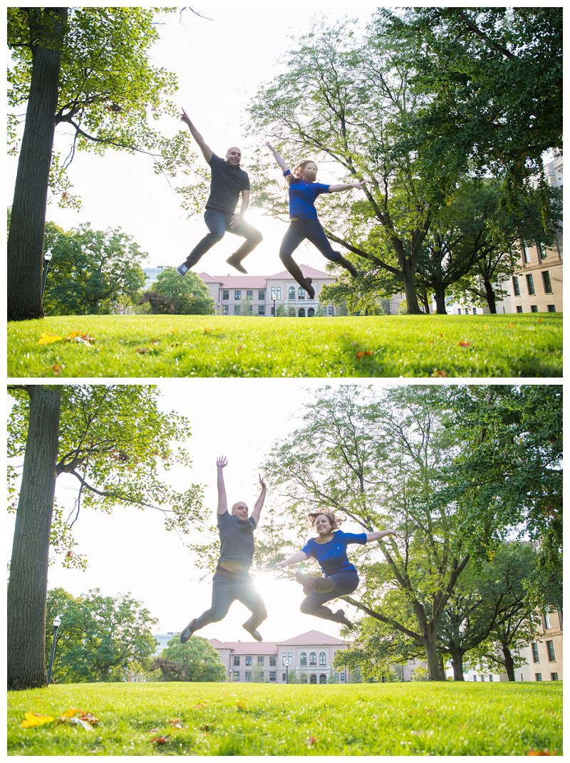 OSU Jumping Engagement Pictures