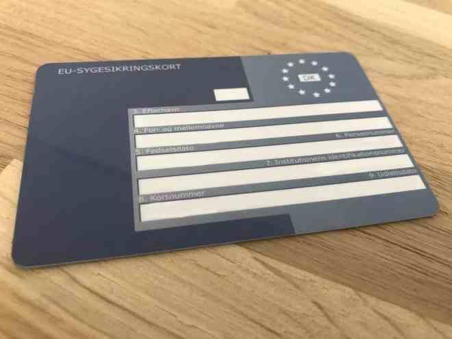 Det blå EU-sygesikringskort