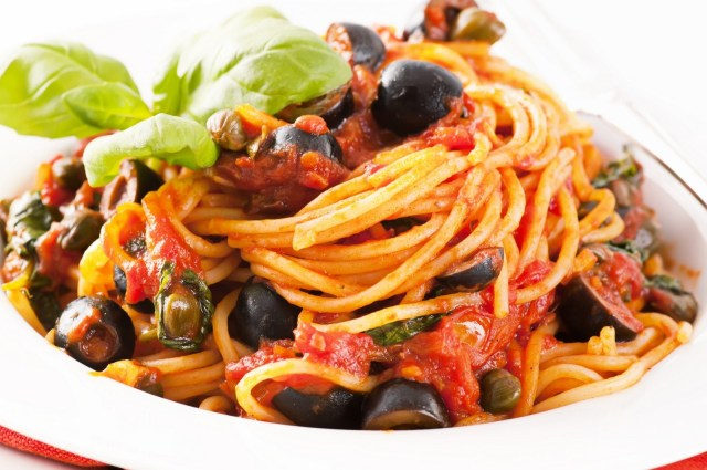 Heerlijke Pasta alla Puttanesca van meester Sjors