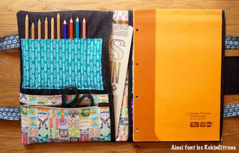 Pochette sacoche dessin enfant totems 3