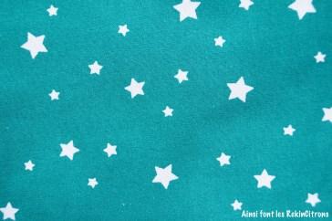 tissu canard etoiles detail
