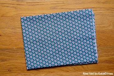 tissu turquoise fleurs hawaii