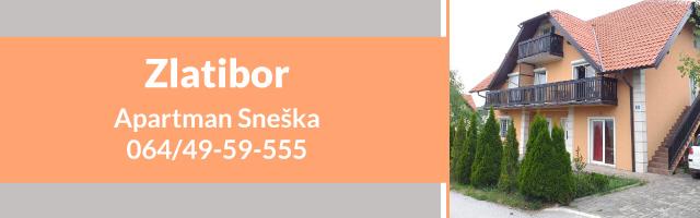 Prodaja - Apartman Sneška Zlatibor