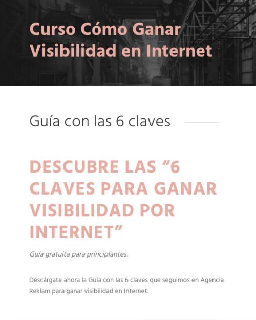 CURSO ONLINE GANAR VISIBILIDAD INTERNET
