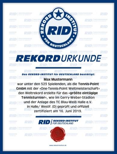 RID-Urkunde-Groesstes-Tennis-Turnier-Teilnehmer