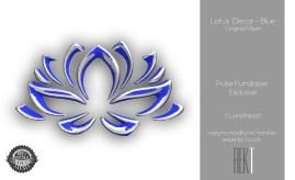 Rekt Lotus Decor - Blue
