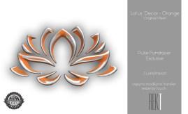Rekt Lotus Decor - Orange