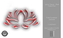 Rekt Lotus Decor - Red