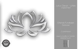 Rekt Lotus Decor - White