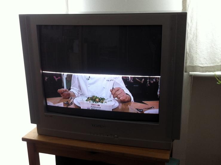 halbes Fernsehbild