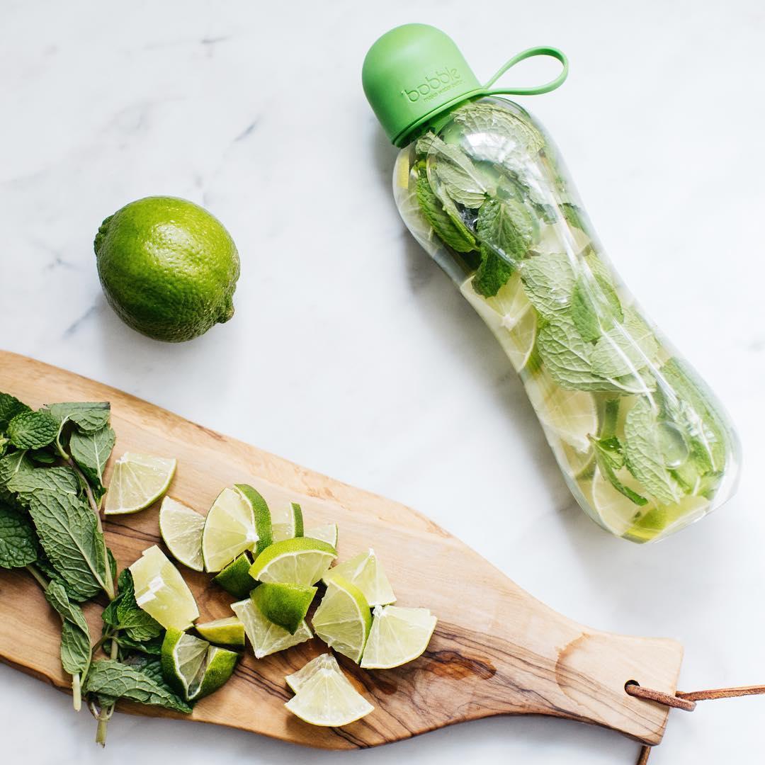 duurzame waterflessen top 5 Bobble infused munt groen