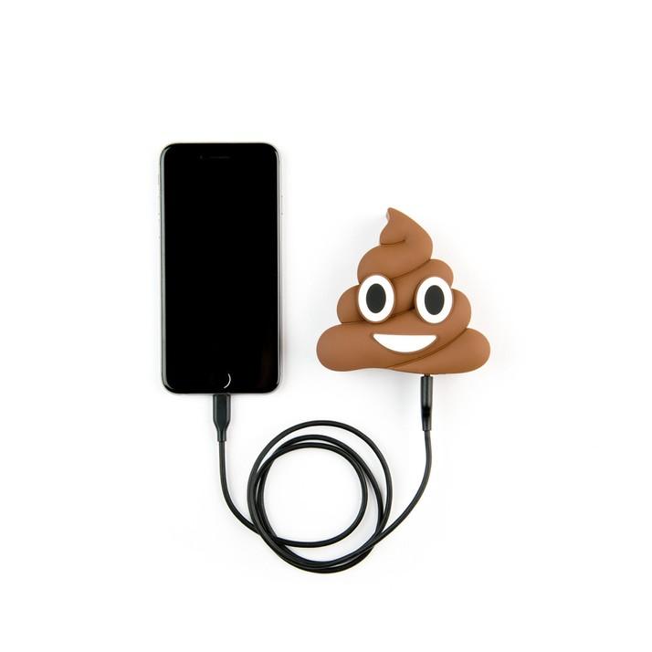 3d powerbank emoticon poop drol mobiele telefoon relatiegeschenken