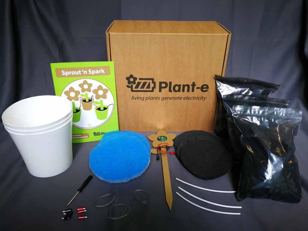 plant-e elektriciteit uit levende planten diy kit duurzaam relatiegeschenk idee tech gadget