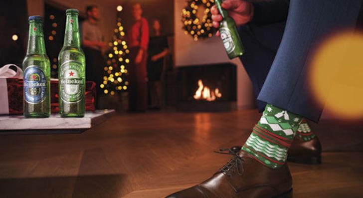 Heineken kerstsokken feestsokken