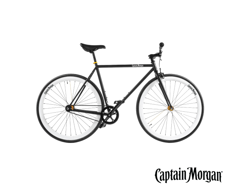 captain morgan fietsen bedrukken logo