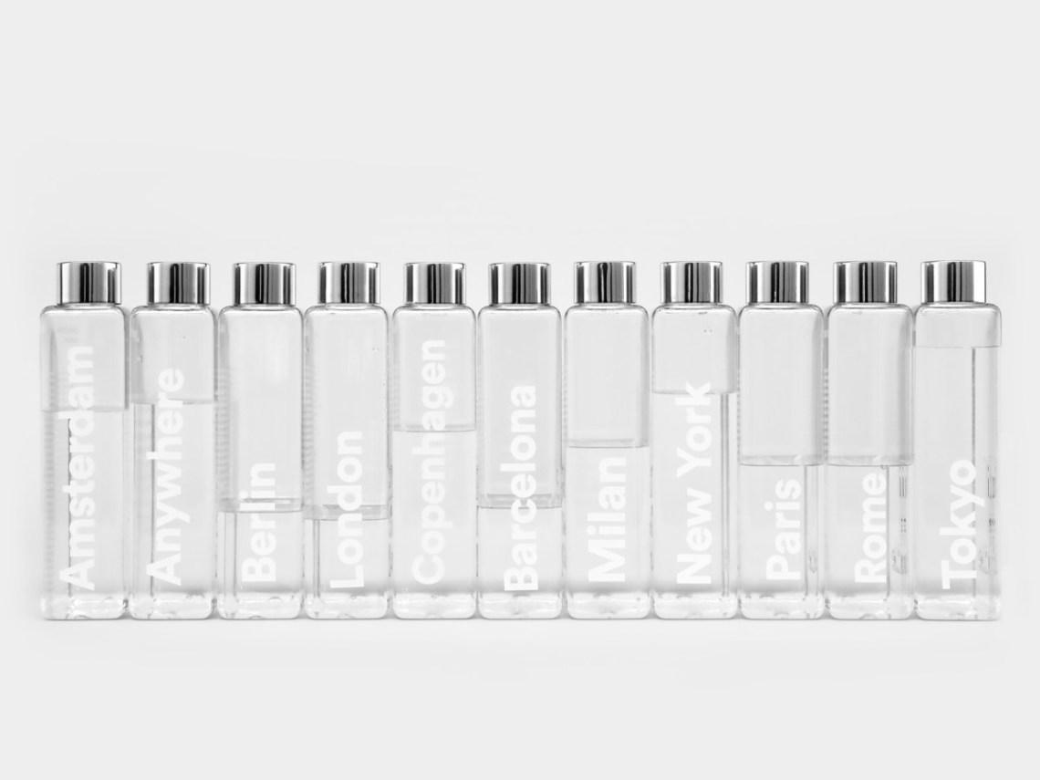 phil the bottle hervulbare waterfles design relatiegeschenk city marketing