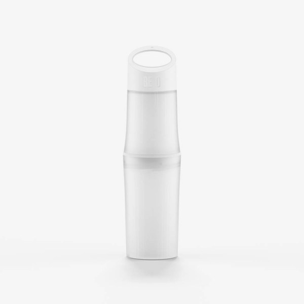 BE O bottle wit bedrukt waterfles compleet