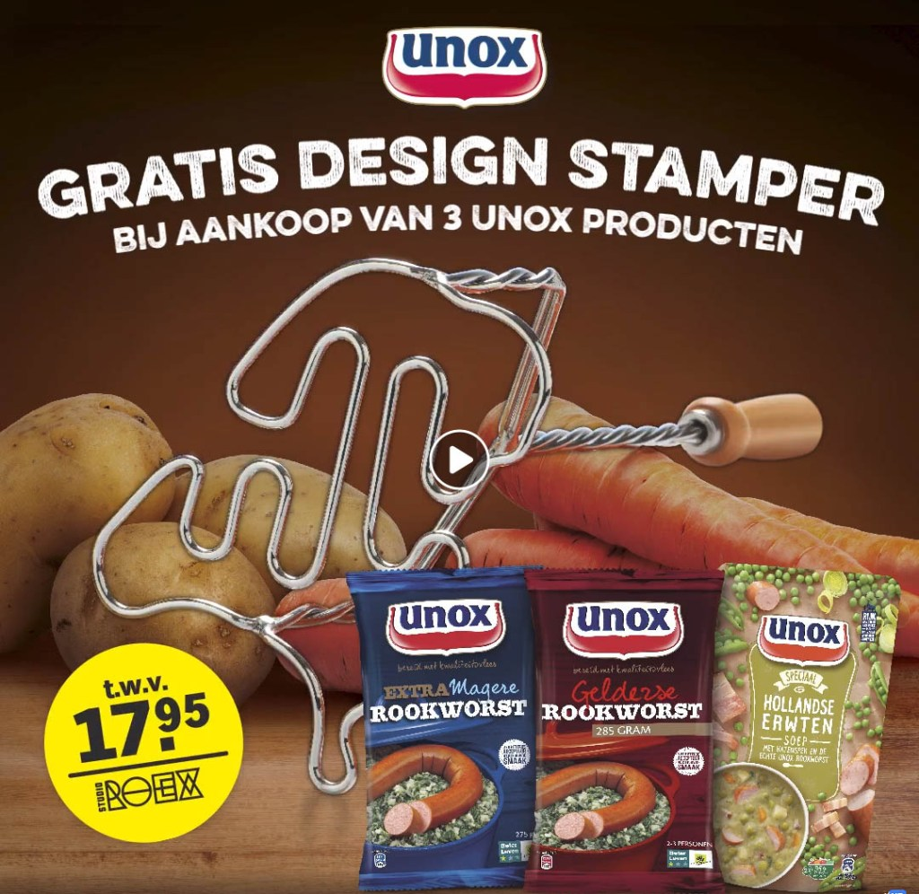 design stamppotstamper unox